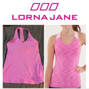 Pink top by Lorna Jane